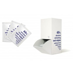 Antybakteryjne saszetki z chusteczką - 100 sztuk